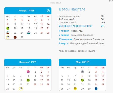 Календарь бухгалтера онлайн на рабочий стол регистрация ооо ип томск